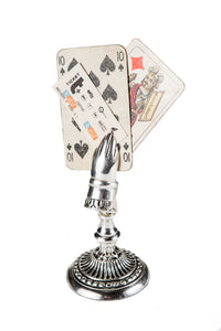 Antiqued Silver Clip Note Holder