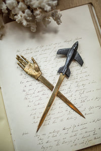 Airplane Letter Opener Pewter