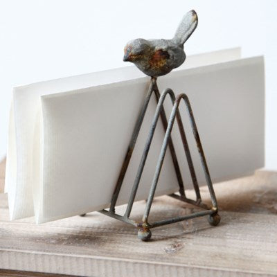 Metal Letter Holder with Song Bird