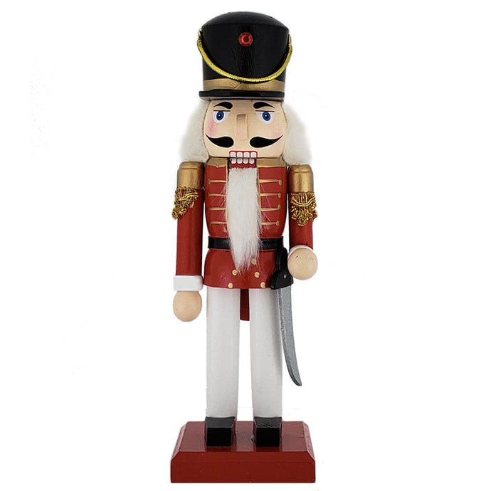 Traditional Soldier Nutcracker Red white/black hat 10