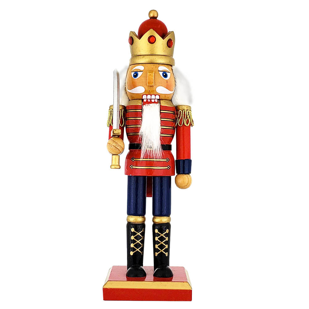 Traditional King Nutcracker Red/Bejeweled Crown 10