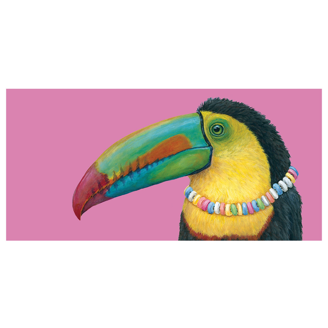 Colorful Toucan with a message of  Tou-can do it.