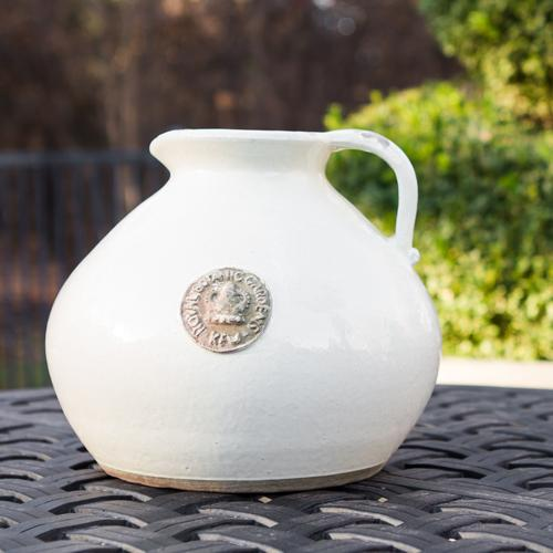 Botanical Collections Kew Distressed Pitcher Ivory