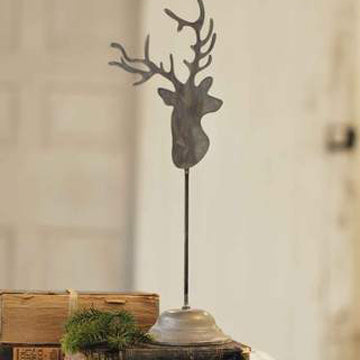 Reindeer Silhouette with Vintage Stand