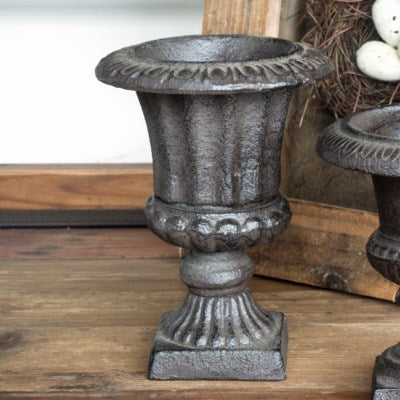 Small Fluted Iron Urn