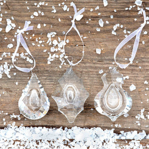 Crystal Tear Drop Clear Ornament