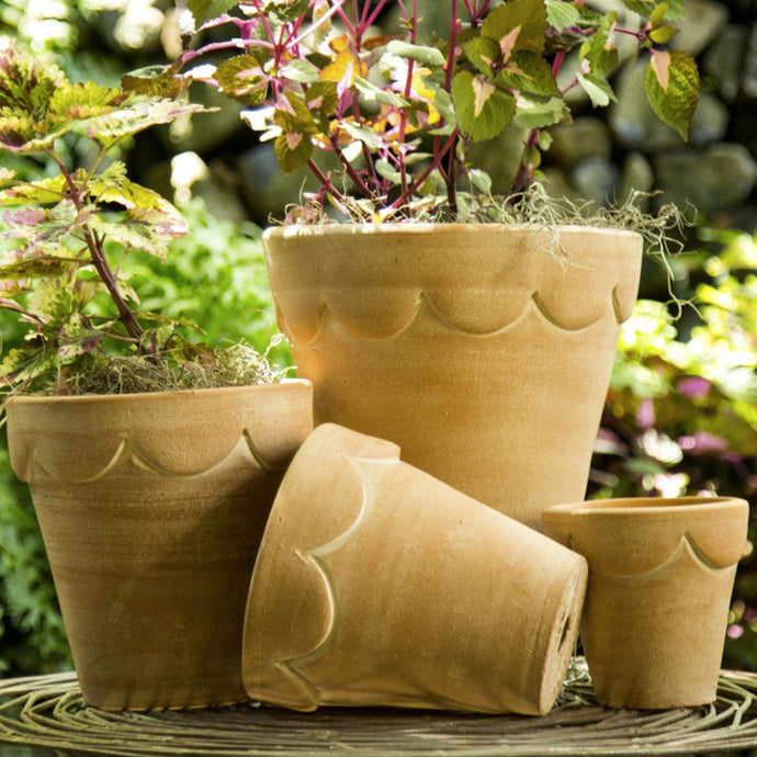 The set of Orleans Pots, showing all 4 sizes in natural