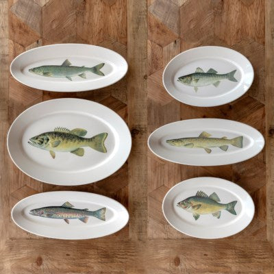 Largemouth  Bass  Extra Large Fish Platter