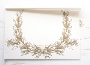 Gold Laurel Wreath Placemats