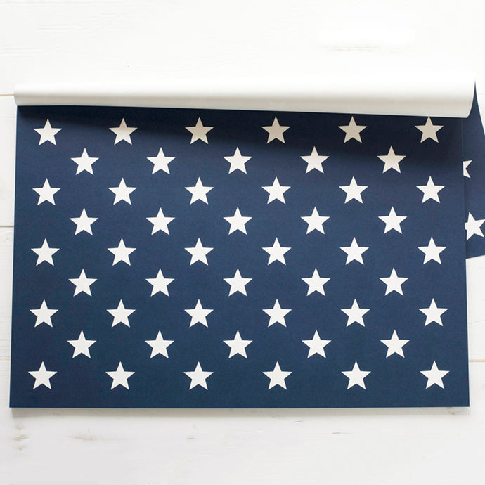 An image of the Stars on Blue Paper Placemat