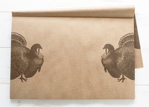 Turkeys on Kraft Placemat
