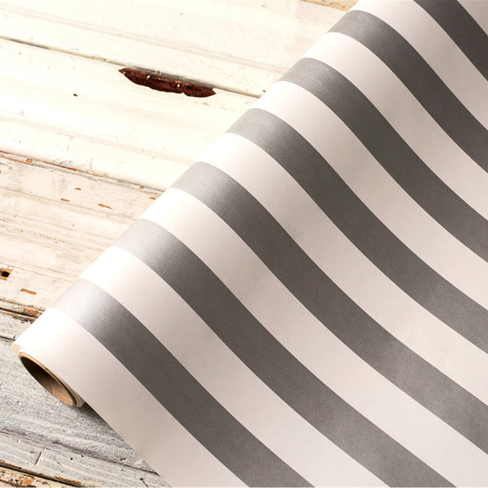 Silver Classic Stripe Table Runner