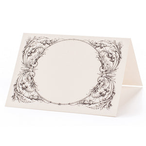 Italian Scroll tented place card