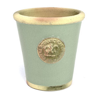 Handcrafted large Pot. Chartwell Green Glaze Embossed with London's KEW Botanical Garden's Emblem