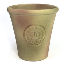 Handcrafted Small Pot. Antique Moss Green Finish and Embossed with London's KEW Royal Botanical Garden's Official Seal