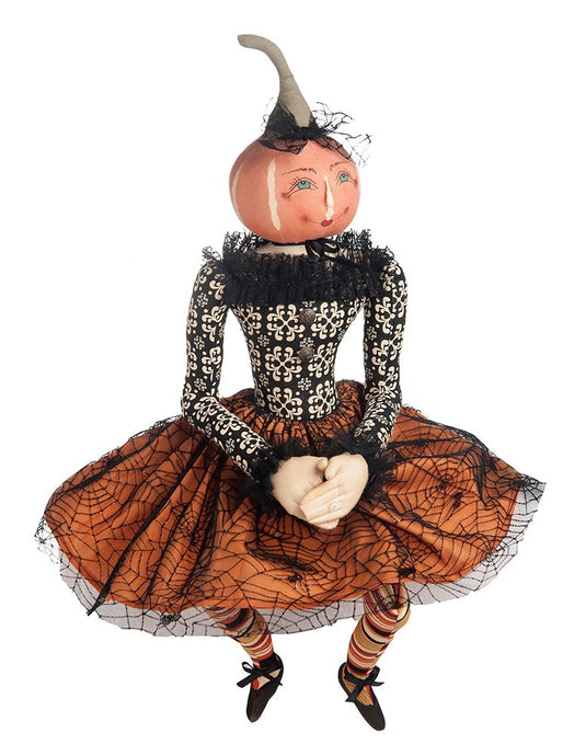 Paris Pumpkin Head Lady