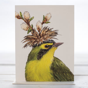Curtis Kentucky Warbler Card