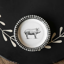 Black and White Pig Paper Dinner Plates 10""