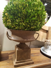 Rusted Short Classic Urn with greenery