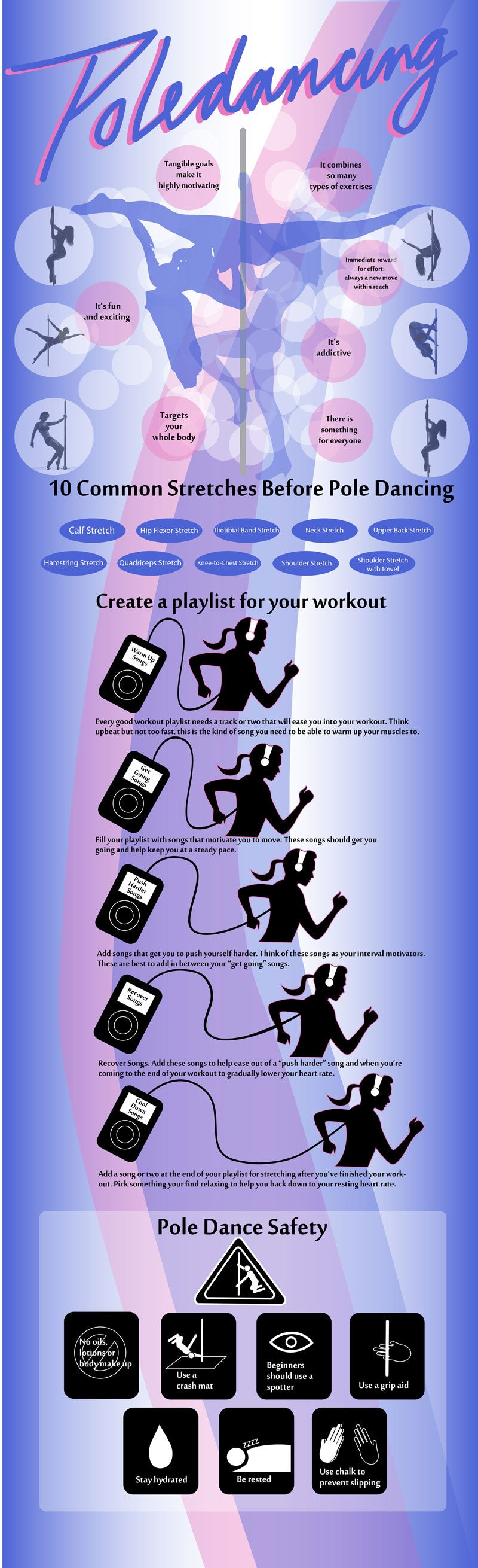 pole dancing info graphics