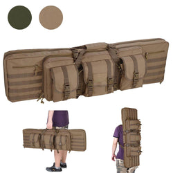 "TheLAShop 42"" Tactical 2-Rifle Soft AR Rifle Bag Backpack Color Opt"