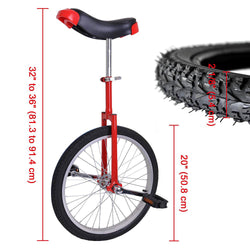 20 inch Wheel Unicycle Multiple Color