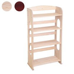 "TheLAShop 41""H 4-Shelf Wood Bookshelf Bookcase Hollow Organizer Color Opt"