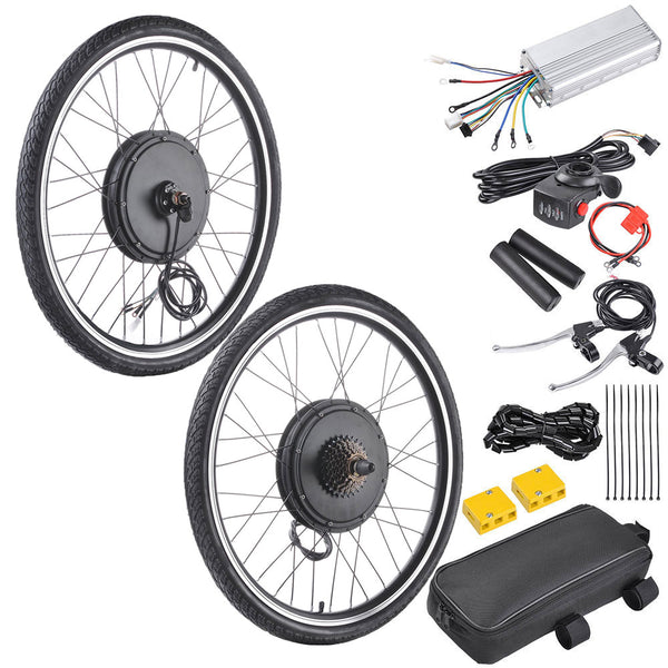 TheLAShop 48v 1000w 26 Inch Front/ Rear Electric Bicycle Motor Conversion  Kit