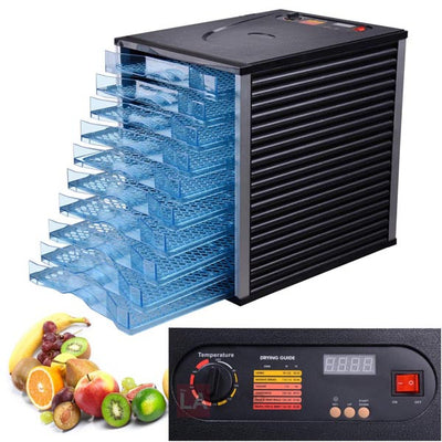 10 Tray 800W Fruit Jerky Sausage Dryer Food Dehydrator Dryer