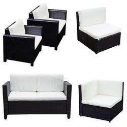 Outdoor Patio Rattan Wicker Sofa Chair w/ Cushion Style Options