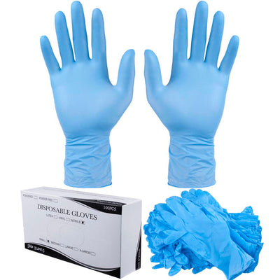 1000pcs Blue Nitrile Powdered Free Disposable Gloves - Box