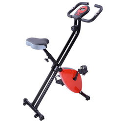 Foldable Magnetic Upright Exercise Bike Indoor Cycling Red