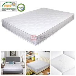"Queen Mattress 10"" Pocket Coil Spring Memory Foam CertiPUR-US"