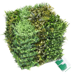 "12pcs 20""x20"" 33sq.ft Fern/Ilex Pernyi Artificial Hedge Fence Screen"