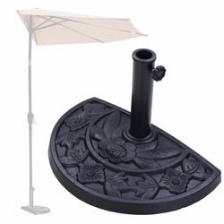 TheLAShop 20 lb. Outdoor Patio Half Semicircle Umbrella Base Resin Stand