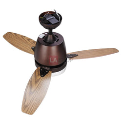 "42"" Bronze 3-Blade Ceiling Fan with Light & Remote Control"