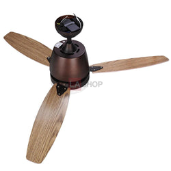 "52"" Bronze 3 Blades Ceiling Fan with LED Light Remote Control"