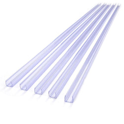 DELight 5pcs 3ft Clear PVC Channel Mounting for Neon Rope Light