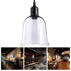 Dome Shape Clear Glass Pendant Light Hanging Lamp