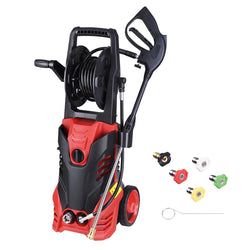 TheLAShop 1.9GPM 3000PSI Electric Pressure Washer w/ 5 Nozzles Soap Tank