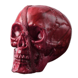 7x6x6in Skeleton Head Skull Halloween Prop Haunted House Party Decor