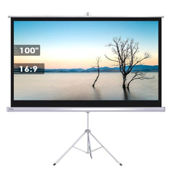 "Instahibit 100"" 16:9 Manual Tripod Stand Projector Screen"