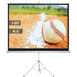 "120"" 4:3 Manual Pull Down Tripod Projector Screen"