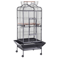 32x30x63 Large Bird Cage Open Dome Playtop Black Vein