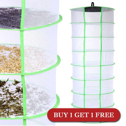2ft 8 Layer Plant Herb Drying Rack Hanging Net