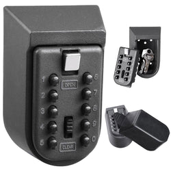 10-Digit Wall Mount Key Lock Box Security Storage