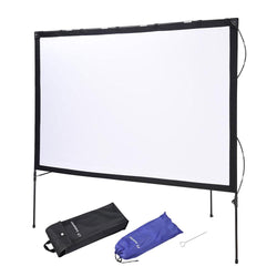 "Instahibit 77"" 16:9 Outdoor Projector Screen w/ Frame Stand"