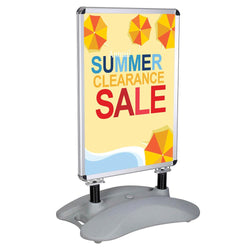 "Sidewalk Sign Snap Frame for 23""x33"" Poster w/ Water Base"