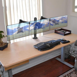"Triple-Monitor Stand Desk Mount Adjustable for 13""-24"" Screens"