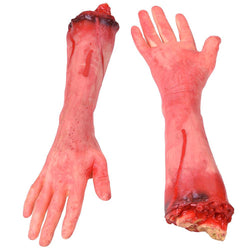 5pcs Scary Severed Hands Leg Foot Props Halloween Party Decor